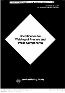 ANSI-AWS D14.5-97 -Specification for Welding of Presses and Press Components-AWS-American Weld